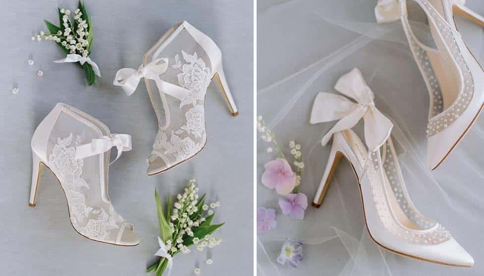 chaussures dentelle mariée