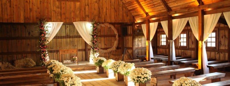 photo of wedding setup