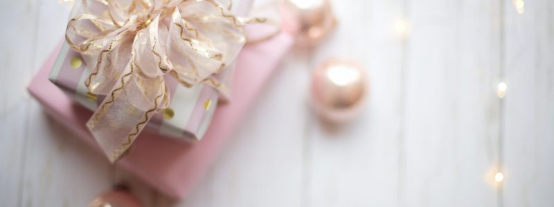 blog two pink and white gift boxes with ribbon