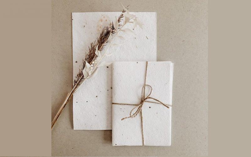 Tendance papeterie de mariage : le papier à planter