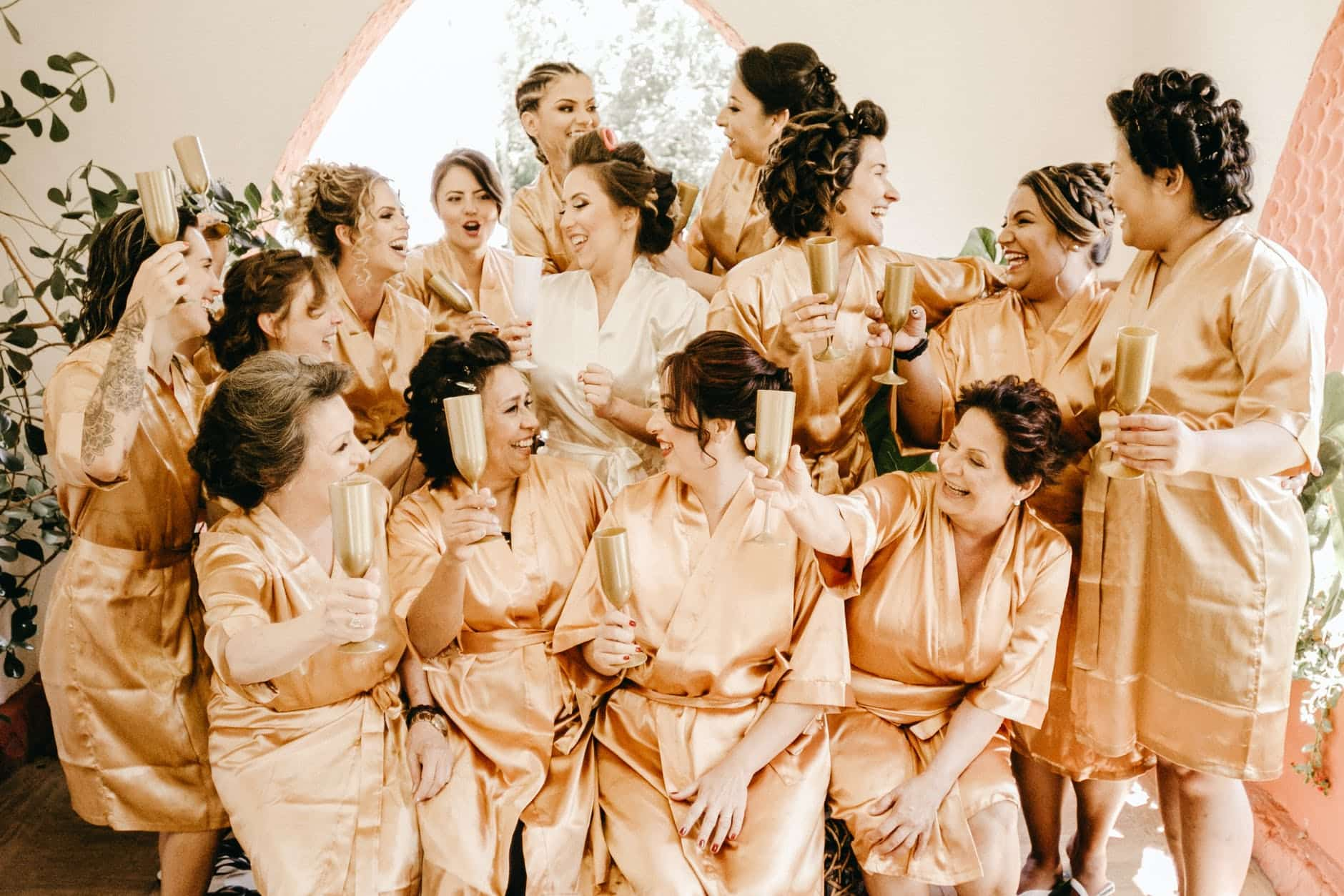 women wearing brown dress