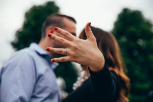 shallow focus photography of man and woman kissing each other
