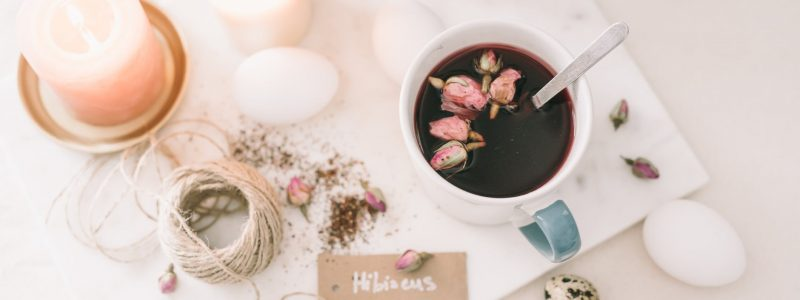 black tea with hibiscus