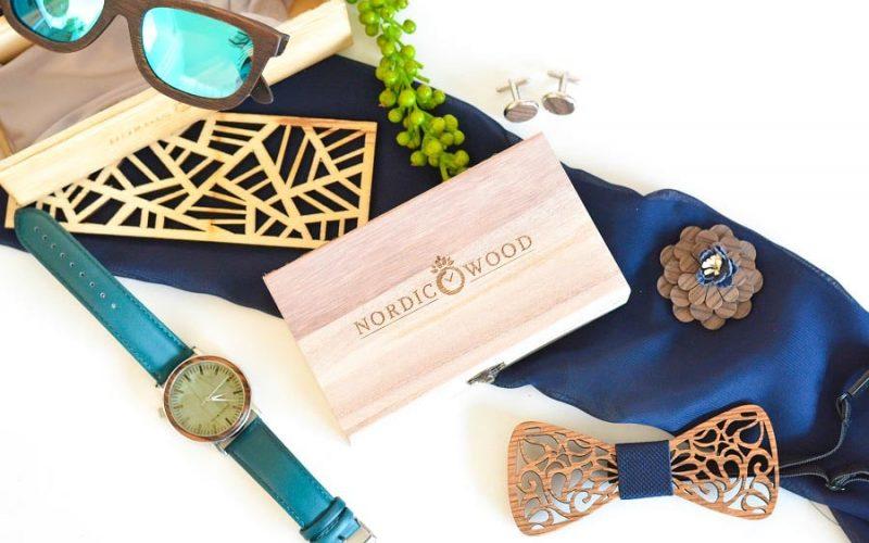 {Concours} Nordic Wood : accessoires en bois pour un look de marié original