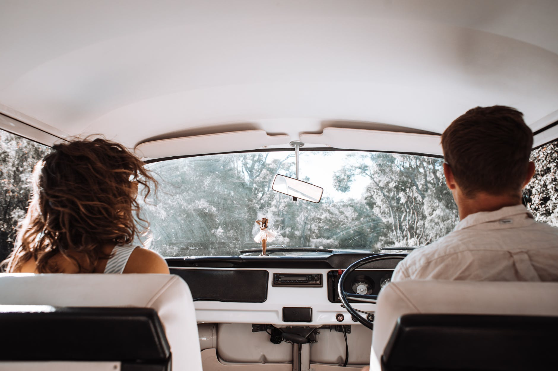couple travelling in car together
