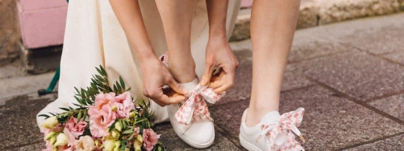 mariée avec basket bons baisers de paname