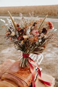 bouquet de mariée fleurs séchées