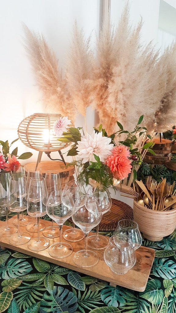 décoration herbes de pampa mariage nature