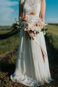 bouquet de mariée destructuré
