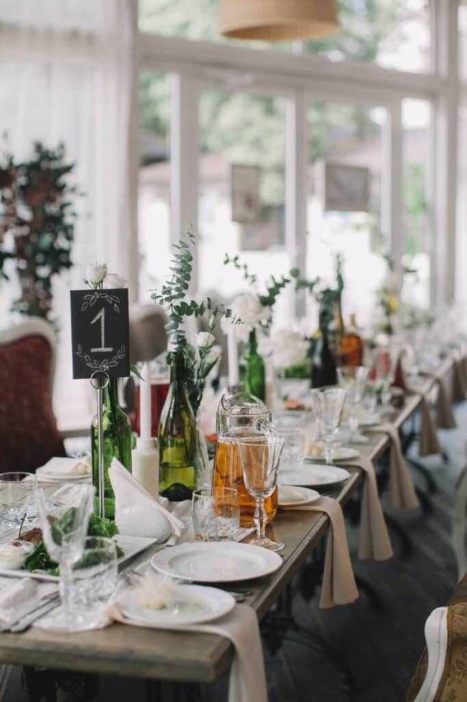table mariage nature