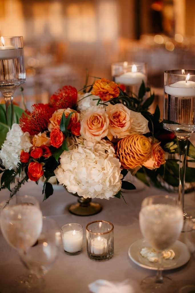 centre de table mariage nature