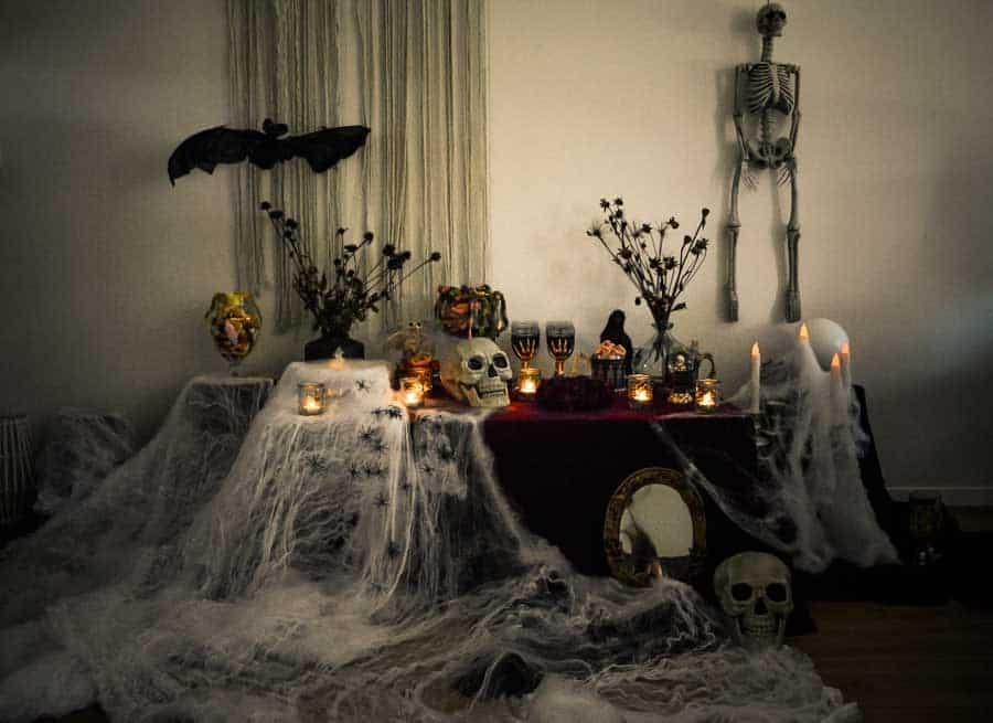 bar à bonbons effrayant halloween la mariée en colère