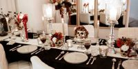 {Shooting} Une table d'Halloween chic !