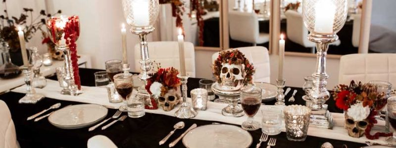 décoration table halloween chic