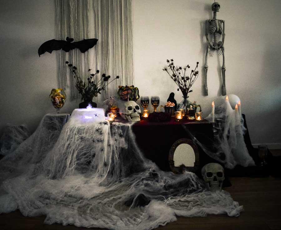 halloween déco table la mariée en colère